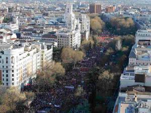 Vista de la manifestación Marchas de la Dignidad | Madrid | 22 de marzo de 2014