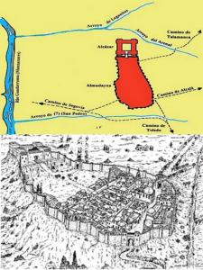 Plano y representación del Madrid islámico a finales del siglo IX