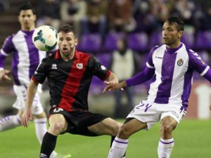 Rat y Jeffren luchando por el balón | Real Valladolid vs. Rayo Vallecano de Madrid | 22-03-2014