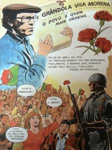 Grândola, Vila Morena | José 'Zeca' Afonso | Revolución de los Claveles | 25 de abril de 1974 | Cartel alegórico