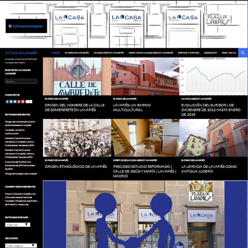 Página de Inicio del sitio web 'La Casa en Lavapiés'