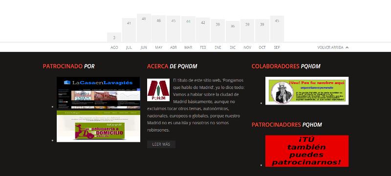 Pantallazo Banner Patrocinadores | Pie de página PqHdM | Agosto 2015