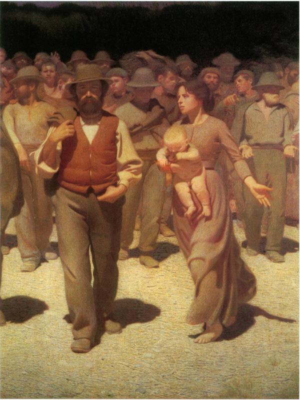 Quarto Stato (El cuarto poder) | 1901 | Giuseppe Pellizza da Volpedo | Detalle central