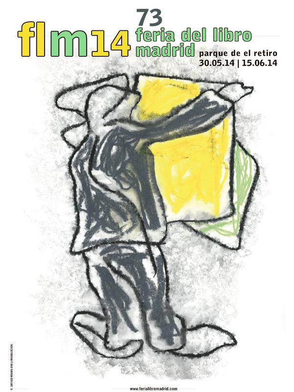Cartel Feria del Libro de Madrid 2014 | Parque del Retiro | © Santiago Miranda (King & Miranda Design)