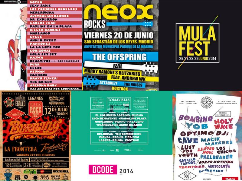 Carteles | Festivales de Música | Verano 2014 | Comunidad de Madrid