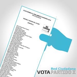 Elecciones Europeas 2014 | Vota Red Ciudadana Partido X