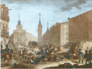 Levantamiento del 2 de mayo de 1808 en la Puerta del Sol de Madrid