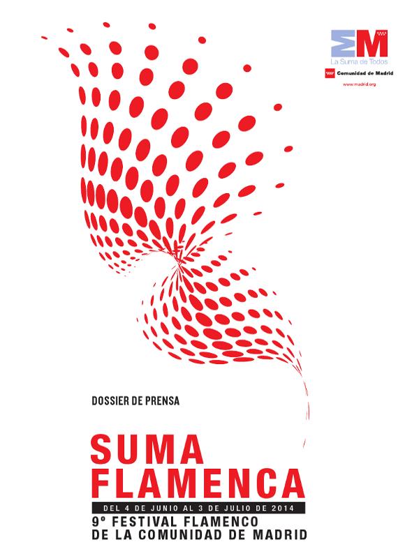 Cartel Suma Flamenca 2014 | 9º Festival Flamenco de la Comunidad de Madrid | 4 de junio al 3 de julio de 2014