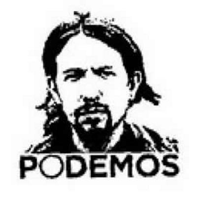 Logo de 'Podemos' con la imagen de Pablo Iglesias