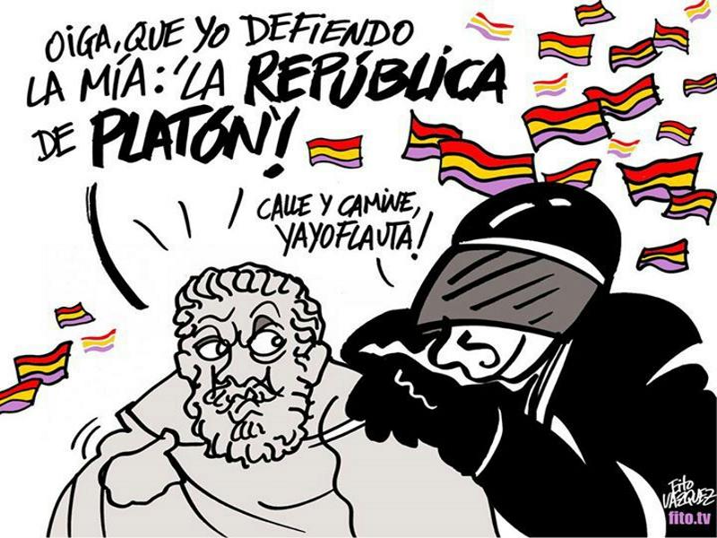 Oiga que yo defiendo la mía: 'La República de Platón'! | Fito Vázquez 2014