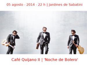 05 agosto - 2014 - 22:00 h | Jardines de Sabatini | Café Quijano II - 'Noche de Bolero' | Veranos de la Villa 2014 - Madrid