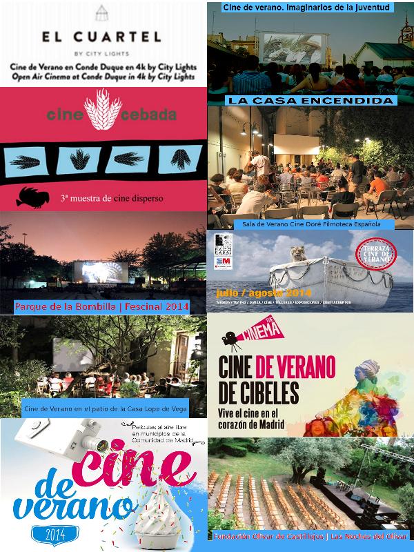 Cine de Verano 2014 en Madrid y la Comunidad de Madrid