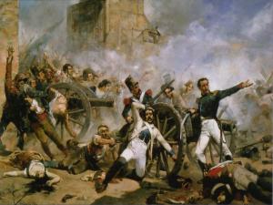 Defensa del Parque de Artillería de Monteleón | Joaquín Sorolla | 1884