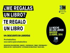 Día Internacional del Libro | La noche de los libros | Madrid | 23 de abril de 2014