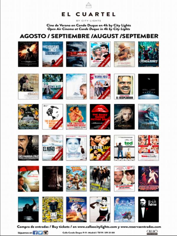 El Cuartel by City Lights | Cine bajo el cielo de Conde Duque | Programación agosto | Cuartel de Conde Duque | Veranos de la Villa 2014 | Madrid