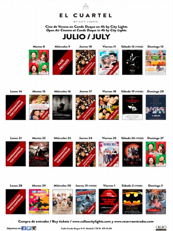 El Cuartel by City Lights | Cine bajo el cielo de Conde Duque | Programación julio | Cuartel de Conde Duque | Veranos de la Villa 2014 | Madrid