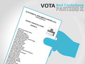 EP2014 | Vota Red Ciudadana Partido X | Mayo 2014
