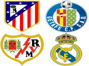 Escudos de los 4 equipos madrileños en Primera División | Liga BBVA | Temporada 2014-2015