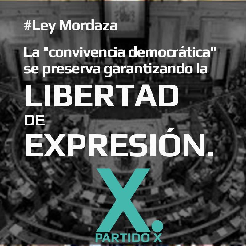 La convivencia democrática se preserva garantizando la libertad de expresión | Red Ciudadana Partido X