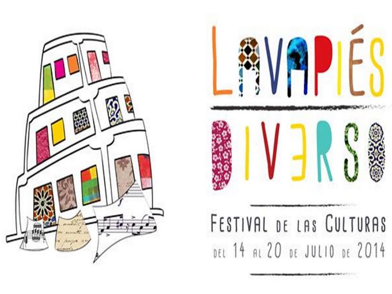 Lavapiés Diverso | Festival de las Culturas | Del 14 al 20 de julio de 2014 | Diseño de Pablo Pámpano