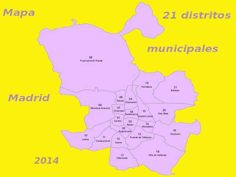 Datos prcticos sobre los 21 distritos de Madrid  PqHdM