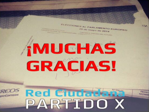 ¡Muchas Gracias! | Red Ciudadana Partido X