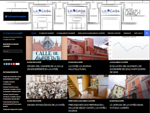 Pantallazo sitio web La Casa en Lavapiés