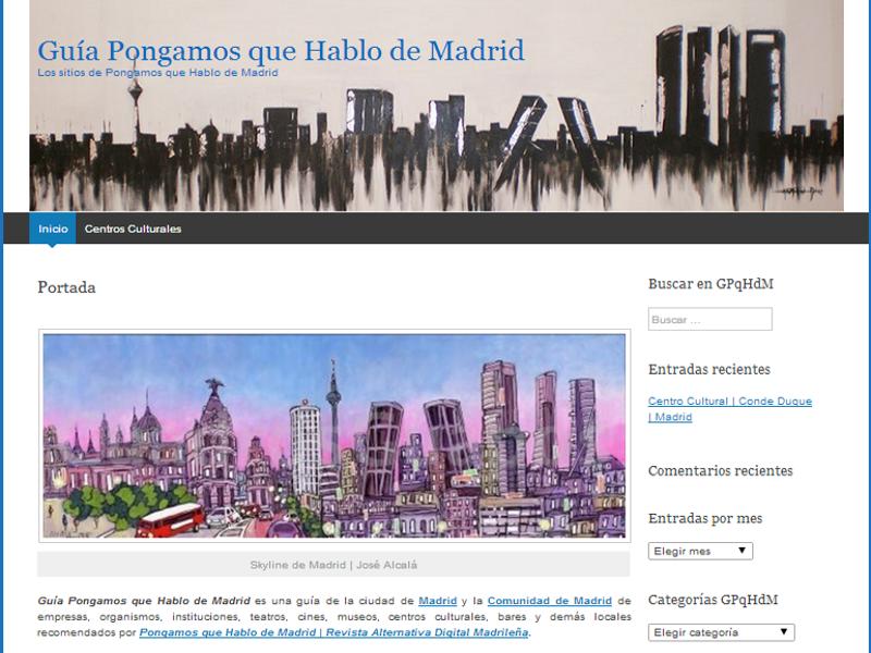 Portada | Guía Pongamos que Hablo de Madrid | Los sitios de Pongamos que Hablo de Madrid