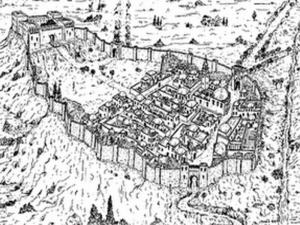 Representación del Madrid islámico a finales del siglo IX