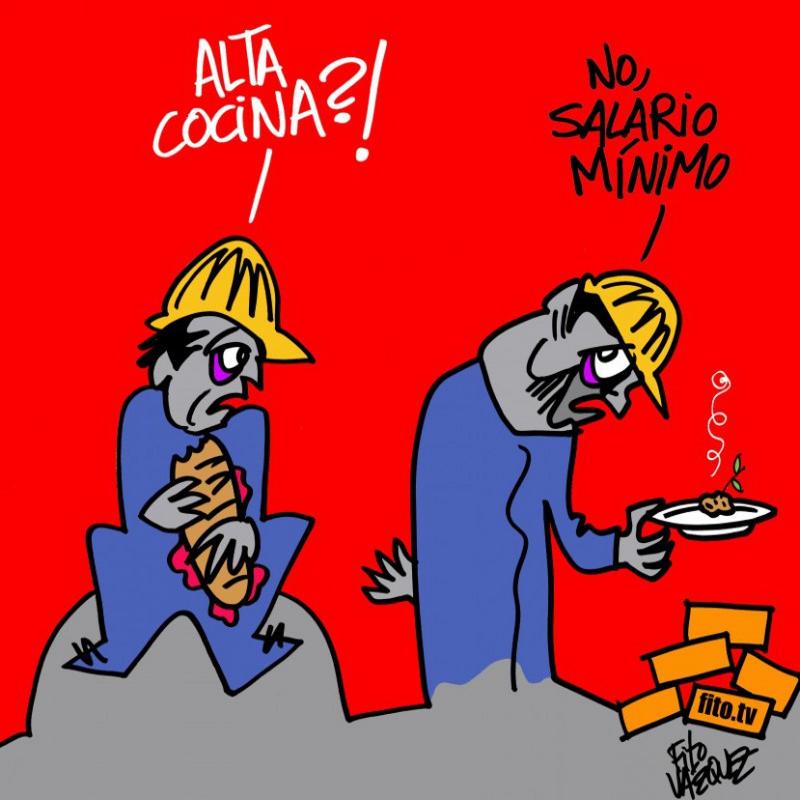 Salario mínimo | 'Más que chef': El 'Máster Chef' del obrero |  © Fito Vázquez 2014