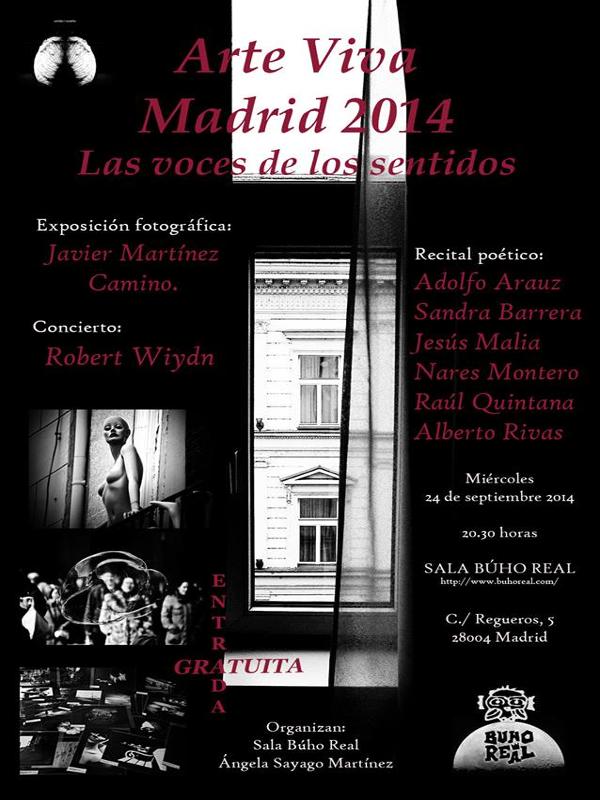 Arte Vivo | Madrid 2014 | Las voces de los sentidos | Miércoles 24 de septiembre de 2014 - 20:30 horas | Sala Búho Real | Madrid