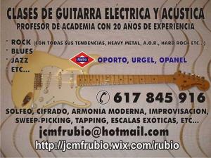 Clases de guitarra eléctrica y acústica | José Carlos Martín
