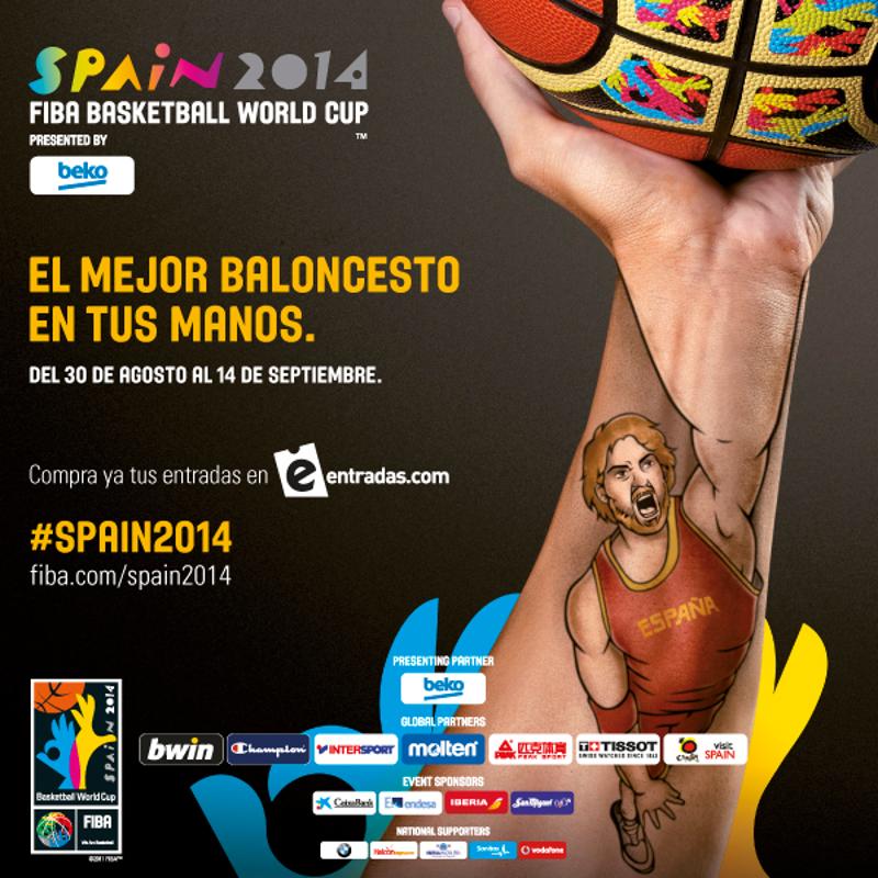 El mejor baloncesto en tus manos | Del 30 de agosto al 14 de septiembre | Spain 2014 FIBA Basketball World Cup | Copa del Mundo de Baloncesto FIBA España 2014
