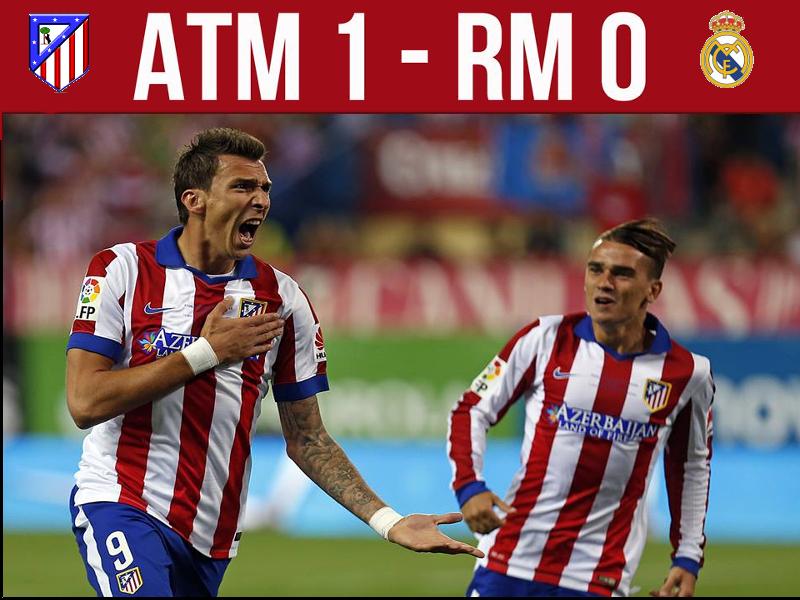 Mandzukic celebra su gol que dio la victoria al Atlético de Madrid frente al Real Madrid en la Supercopa de España 2014