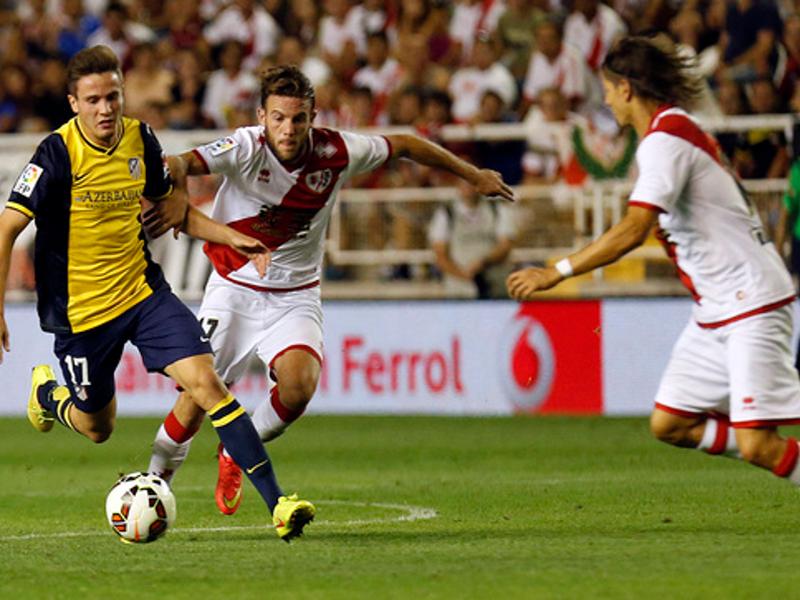 Rayo Vallecano y Atlético de Madrid comenzaron la Temporada 2014-2015 con un empate sin goles en el Estadio de Vallecas (25-08-2014)