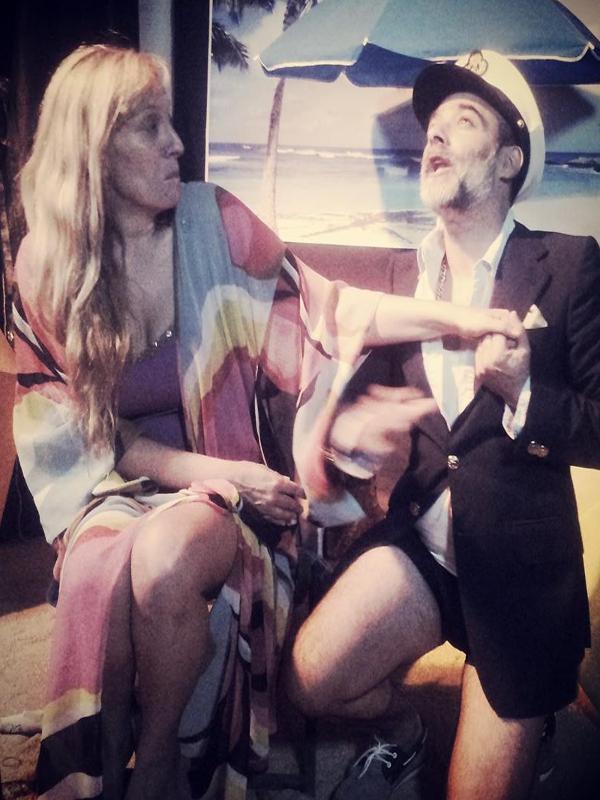 Sonia Madrid y David González | '¡Ojalá! Sueños de arena' | AdeMásTeatro | Espacio 8 | Agosto 2014 | Diseño: Yolandoska