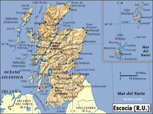 Mapa de Escocia | Reino Unido