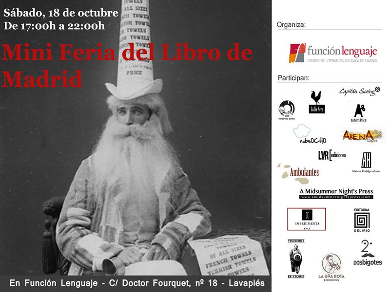 Mini Feria del Libro de Madrid | Función Lenguaje | Sábado 18 de octubre de 2014 | De 17 a 22 horas | Lavapiés - Madrid