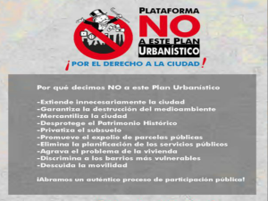 Plataforma 'No a este Plan Urbanístico' | ¡Por el derecho a la ciudad! | Madrid