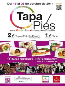 Tapapiés 2014 | 4ª Ruta Multicultural de la Tapa y la Música de Lavapiés | Del 16 al 26 de octubre de 2014 | Cartel