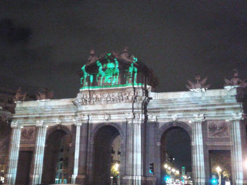 25 Aniversario Caída Muro de Berlín   Puerta de Brandemburgo en Puerta de Alcalá   Berlín - Madrid