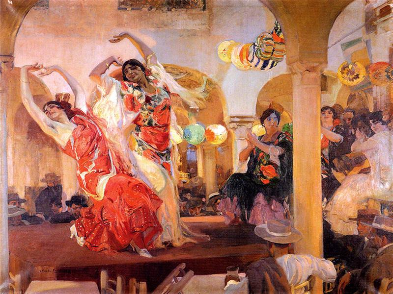 Baile en el Cafe Novedades | 1914 | Joaquín Sorolla | Óleo sobre lienzo | 246 x 295 cm | Colección Banco Santander Madrid | © Colección Banco Santander Madrid