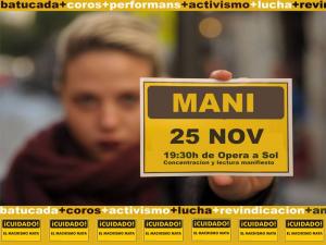 Manifestación Día Internacional por la Eliminacion de la Violencia hacia las Mujeres | Martes 25-11-2014 | De Opera a Sol | Madrid