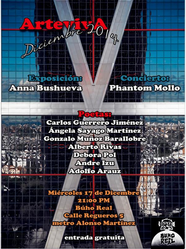 ArtevivA | Diciembre 2014 | Sala Búho Real | Madrid | Miércoles 17 de diciembre de 2014 - 21:00 horas