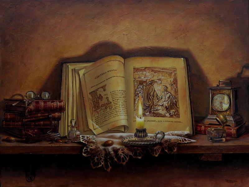 Luz de vela | Óleo sobre lienzo | 61x50cm | Ricardo Renedo | Cuadros minimalistas