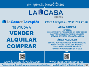 Anuncio La Casa Agency Lavapiés | Enero 2015