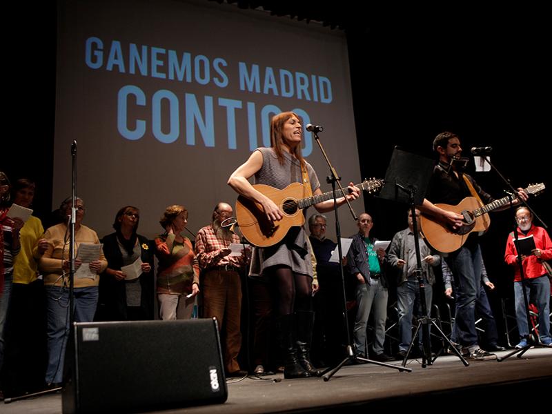 Colofón de la presentación pública de 'Ganemos Madrid' en el Círculo de Bellas Artes de Madrid (04/11/2014)