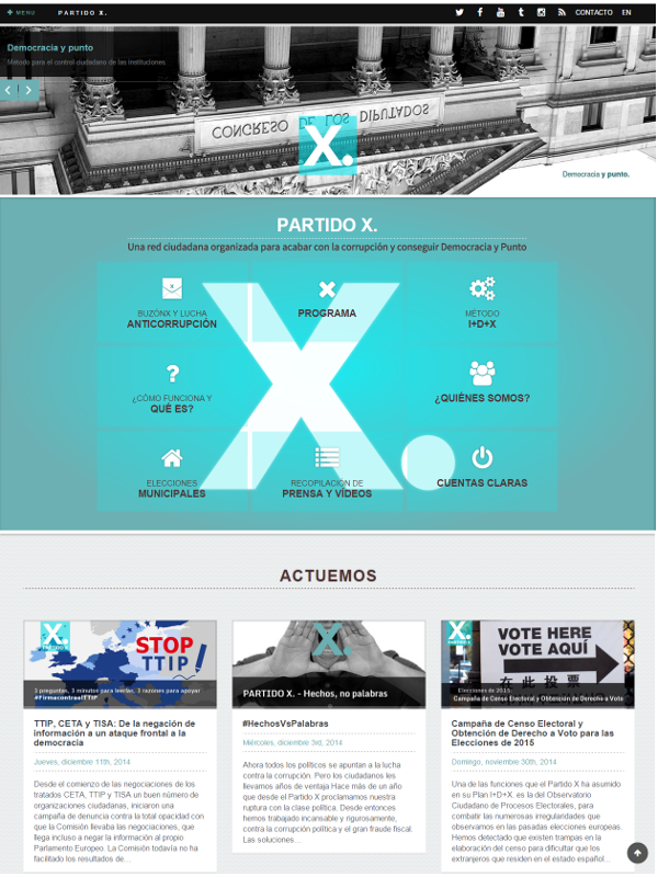 Nueva web de Red Ciudadana Partido X   Dos años abriendo caminos   2013-2015