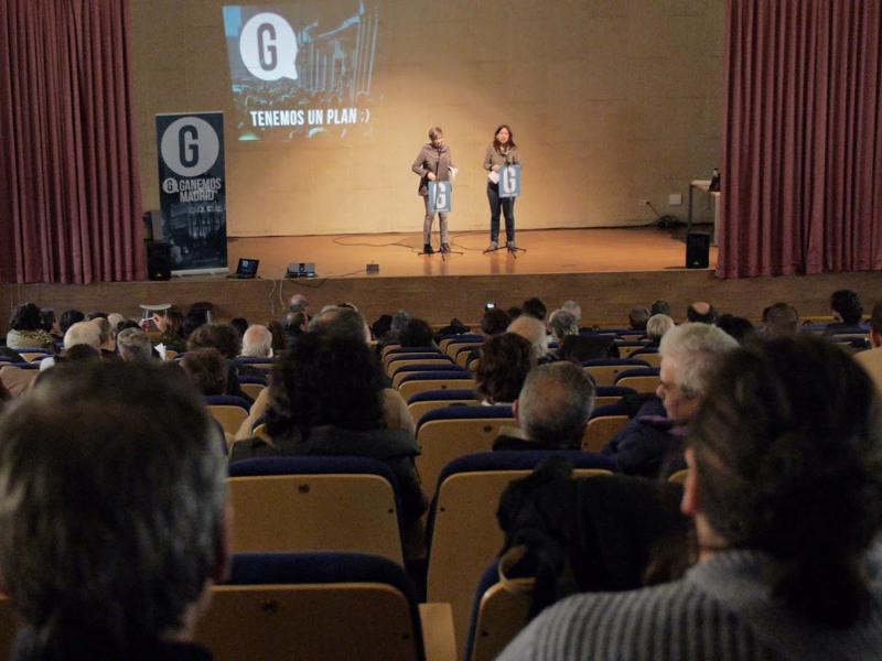 Un momento deI I Foro de Programa y Contenidos 'Plan para Madrid' de Ganemos Madrid |  Sábado 17-01-2015