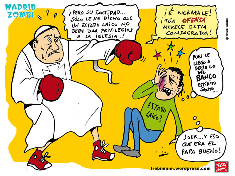 MZ 2015 - 04   Madrid Zombi   Papa se ofende   © Trebi Mann 2015